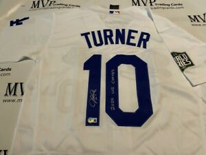 Beckett Authentic Justin Turner Autograph LA Dodgers Jersey w/ 2020 WS Champs!