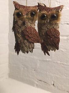 Owl christmas ornament woodland
