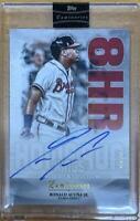 MLB Card 2019 Ronald Acuna Jr. Topps Luminaries Braves Home Run Kings Auto 10/15
