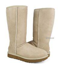 UGG Classic Tall II Sand Suede Fur Boots Womens Size 11 *NIB*
