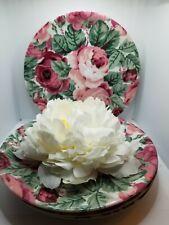 "Lyric Block SPAL Portugal Rose Garden 8"" Plates By Jack Prince - set of 4"