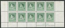 New Guinea: 1937 (SG.210,210a) 5d Green Coronation, Ash Imprint block of 10