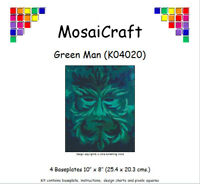 MosaiCraft Pixel Craft Mosaic Art Kit 'Green Man' Pixelhobby