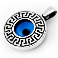 925 Sterling Silver Evil Eye Greek Mati Pendant