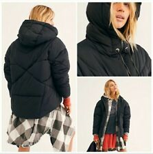New Free People Women/'s Firefly Parka Coat Quilted Sz M L