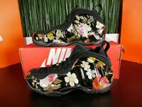 Nike Air Foamposite One Floral Womens Shoes Black AA3963-002 Size 8.5
