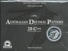 2009 20c 1966 Australian Decimal Pattern 'Anda Gold Coast' Silver Proof Coin