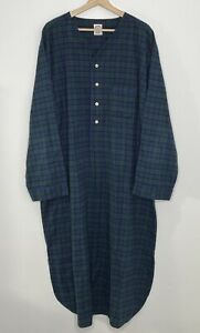 Brooks Brothers Blackwatch Plaid Tartan Pajama Long Nightshirt Size XL Flannel