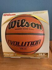 "New listing Wilson Evolution 28.5"" Intermediate Indoor Game Basketball"
