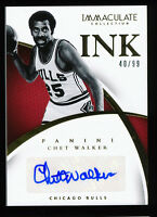 CHET WALKER 2014-15 PANINI IMMACULATE COLLECTION INK AUTOGRAPH AUTO #/99 *BULLS*