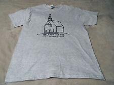JESUS Mens L Tee Shirt Gildan Gray WalMart Isn't The Only saving Place Church