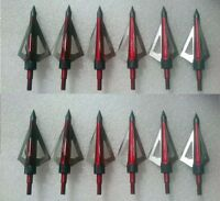 12 IRQ Archery Broadheads 100grain 3blade hunting arrowheads For Crossbow Arrows