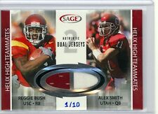 Alex Smith & Reggie Bush 06 Sage Dual Jersey SP 1/10 Helix High Teammates 49ers