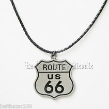 Pendentif Route 66/Bikers/Motards/Harley USA