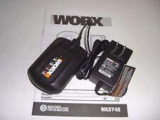 New WORX WA3742 20V Li-Ion Battery Charger For WA3520 WA3525 WA3575 WA3578