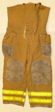 44x30 Pants Firefighter Turnout Bunker Fire Gear w/ Liner FX Repel P852