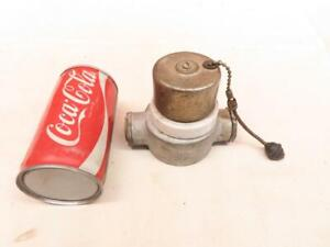 Original Vintage PERKIN Pull Cord Chain Light Electrical Switch Porcelain