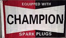 CHAMPION SPARK PLUG FLAG HUGE .Classic car show, Man Cave, Garage, Shed