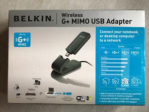 BELKIN Wireless G+ MIMO USB Adaptor (F5D9050B v3001uk)
