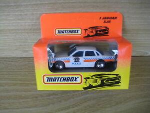 MATCHBOX SUPERFAST   MB1 JAGUAR XJ6  POLICE Region ABSOLUTELY MINT Orange  Box