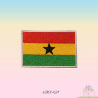 Ghana National Flag Embroidered Iron On Patch Sew On Badge