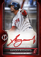 2020 Topps BUNT Xander Bogaerts Tribute ICONIC! RED Hitters SIG [DIGITAL CARD}