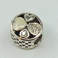 Pandora Charm  Herzen  792143 CZ  .925 Silber       #  A 30537