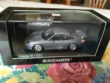 Minichamps Porsche 911 GT3 (996) In Grey Metallic. Year 1999, 1/43 Diecast.