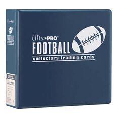 "Lot of 10 Ultra Pro 3"" Football Card Binder Collector's Album Blue Binders"