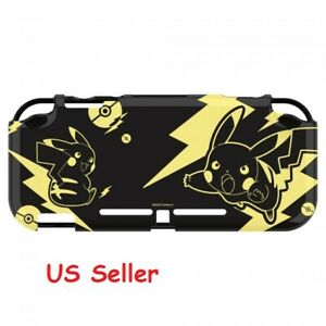 Hori Nintendo Switch Lite Duraflexi Protector Pikachu Black & Gold Case