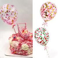 5inch Mini Confetti Latex Balloons Birthday Wedding Party Cake Topper Decore