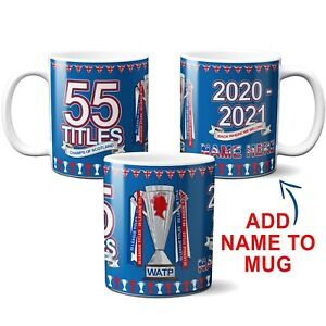 PERSONALISED Rangers Mug Champion 55 Times Winner Cup Champs of Scotland Gift