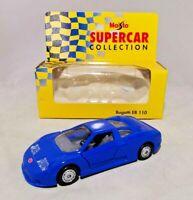 MAISTO - SUPER CAR COLLECTION - 1:38 DIECAST - BUGATTI EB 110 - BOXED