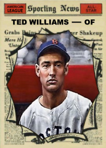 TED WILLIAMS 61 AS ACEO ART CARD ## BUY 5 GET 1 FREE ## or 30% OFF 12 OR MORE