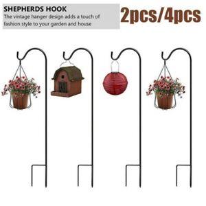 Garden Shepard Hooks Sheppard Shepherd 2/4PCS Metal Hanging Patio Decoration