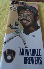 1978 MILWAUKEE BREWERS MEDIA GUIDE LARRY HISLE PAUL MOLITOR ROBIN YOUNT