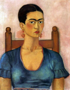 Kahlo Frida #4 Self Portrait Print 11 x 14 #4063