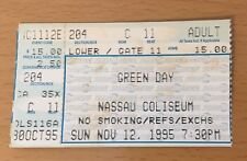 1995 GREEN DAY DOOKIE TOUR NASSAU CONCERT TICKET STUB MIKE DIRNT TRE COOL 11