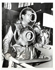 1954 Press Photo Ex-King Peter of Yugoslavia & Prince Alexander space suit trave