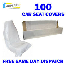 100 Disposable Plastic Car Seat Covers - Repair Service Garage Mechanic