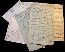 LOT OF SEVEN MANUSCRIPTS 1800s