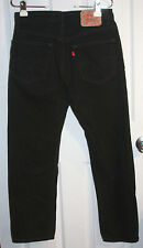 Levis 505 Black Jeans 32x30 Regular Fit 100% Cotton (Actual 30 1/2 x 29 1/2)