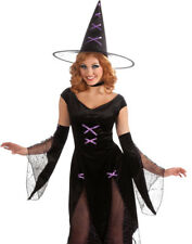Sexy Black Gothic Madonna Of Salem Witch Adult Womens Halloween Costume-Std