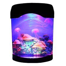 CALOVER Ocean Decor Electric Jellyfish Tank Aquarium Night Light with Color