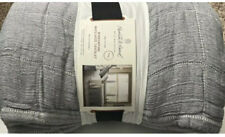New ListingHearth And Hand With Magnolia Windowpane Coverlet Gray King New 100% Cotton