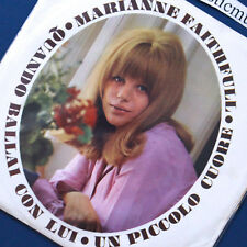 MARIANNE FAITHFULL ORIGINAL 1965 ITALY 7 INCH VINYL NEAR MINT VERY RARE