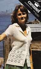 LACY LOOK JACKET short sleeves / 5ply -COPY Ladies crochet pattern