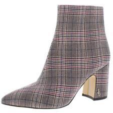 Sam Edelman Womens Hilty Multi Plaid Ankle Boots Shoes 10 Medium (B,M) BHFO 7770