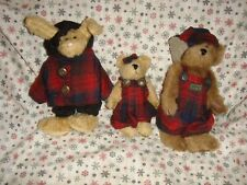 Boyds Bears 1997 Fall Emily, Edmond And Becky Plush