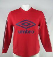 Umbro Men's Red V-Neck Pullover Sweatshirt